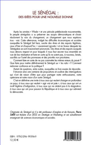 4eme Le Sénégal : des idées pour une nouvelle donne