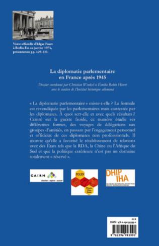 4eme La diplomatie parlementaire en France après 1945