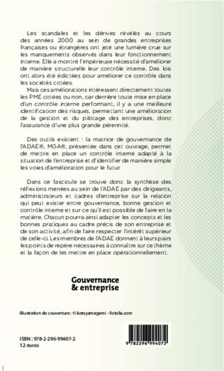 4eme Gouvernance et contrôle interne
