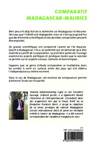 4eme Comparatif Madagascar - Maurice