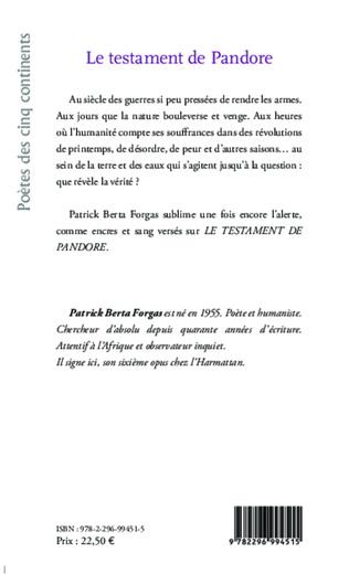 4eme Le testament de Pandore