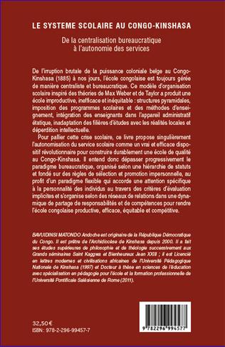 4eme Le système scolaire au Congo-Kinshasa