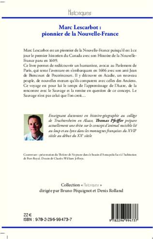 4eme Marc Lescarbot : pionnier de la Nouvelle-France