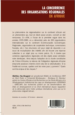 4eme La concurrence des organisations régionales en Afrique