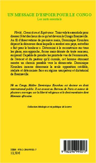 4eme Un message d'espoir pour le Congo