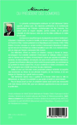 4eme Mémoires du président des Comores