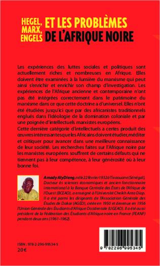 4eme Hegel, Marx, Engels et les problèmes de l'Afrique noire