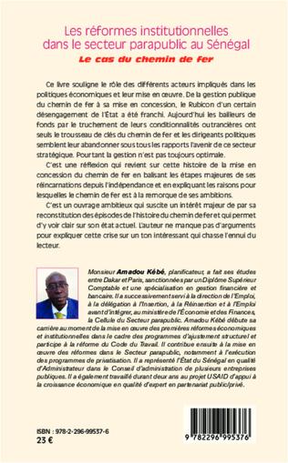 4eme Réformes institutionnelles dans le secteur parapublic au Sénégal