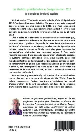 4eme Les élections présidentielles au Sénégal de mars 2012