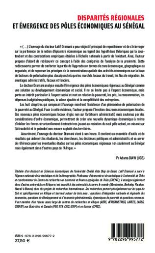 4eme Disparités régionales et émergence des pôles économiques au Sénégal