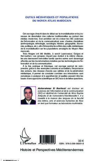 4eme Outils médiatiques et populations du Moyen Atlas marocain