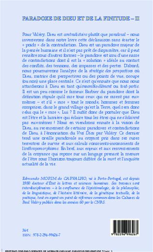 4eme Paradoxe de dieu et de la finitude (Volume 2)