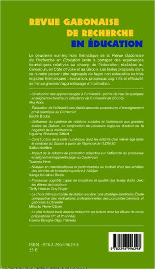 4eme Revue Gabonaise de Recherche en Education