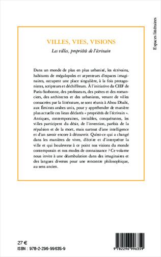4eme Villes, vies, visions