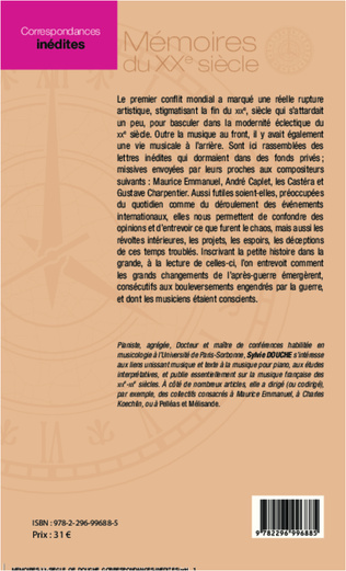 4eme Correspondances inédites à des musiciens français
