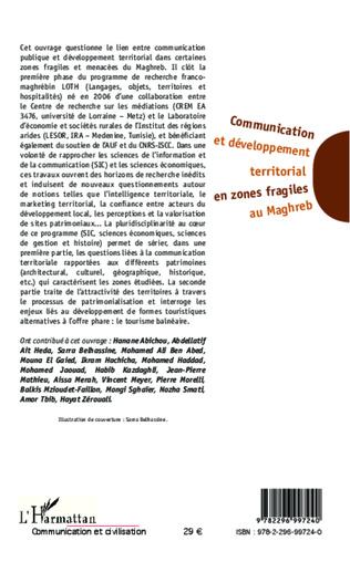 4eme Communication et développement territorial en zones fragiles au Maghreb