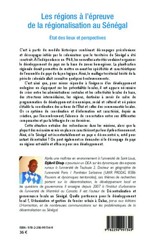 4eme Les régions à l'épreuve de la régionalisation au Sénégal