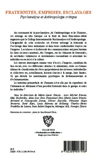 4eme Fraternités, emprises, esclavages