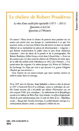 4eme Le théâtre de Robert Poudérou