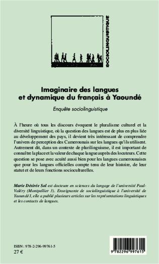 4eme Imaginaire des langues et dynamique du français à Yaoundé