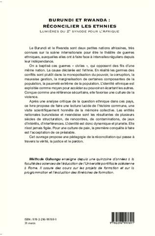 4eme Burundi et Rwanda : Réconcilier les ethnies