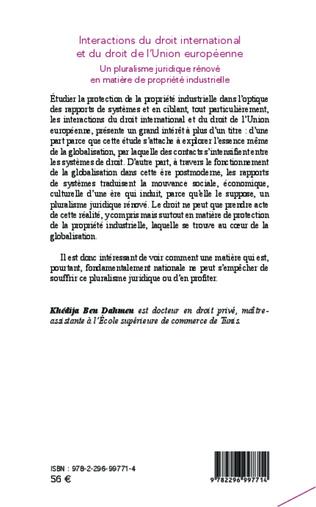 4eme Intéractions du droit international et du droit de l'union européenne