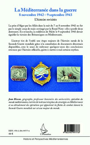 4eme La Méditerranée dans la guerre  8 novembre 1942 - 9 septembre 1943