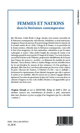 4eme Femmes et nations dans la littérature contemporaine