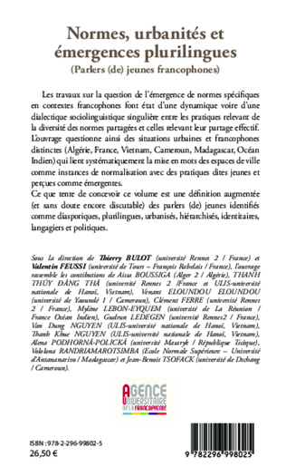4eme Normes, urbanités et émergences plurilingues
