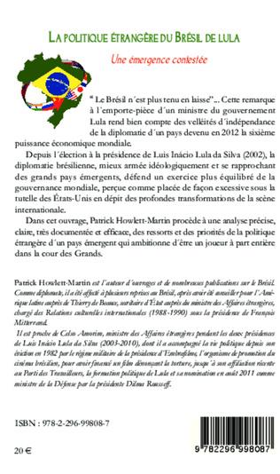 4eme La politique étrangère du Brésil de Lula