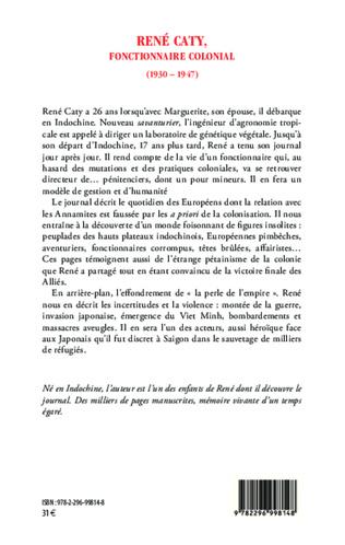 4eme René Caty, fonctionnaire colonial (1930-1947)