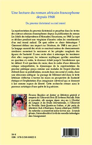 4eme Une lecture du roman africain francophone depuis 1968