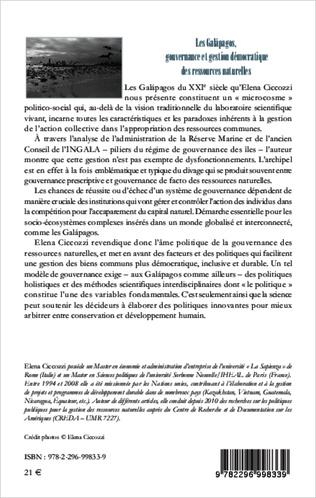 4eme Les Galàpagos, gouvernance et gestion démocratique des ressources naturelles