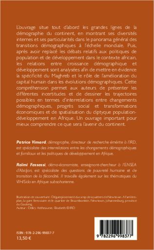4eme Changements démographiques et développement durable en Afrique