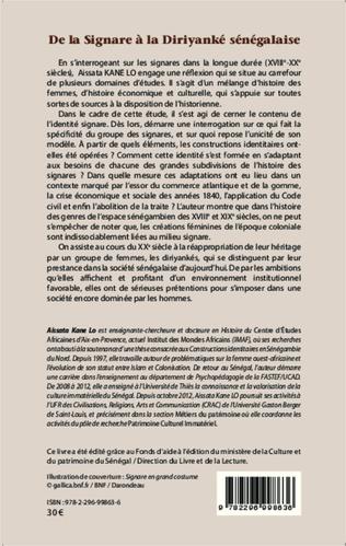 4eme De la Signare à la Diriyanké sénégalaise