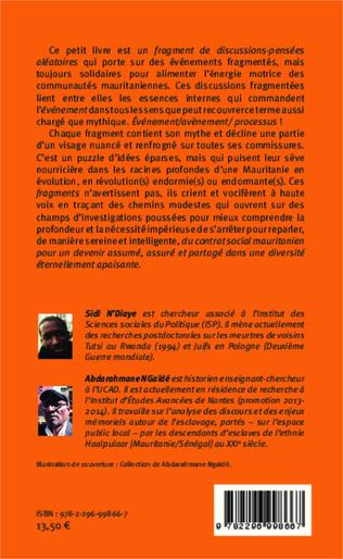 4eme Dissonances, mélodies sociales et politiques mauritaniennes