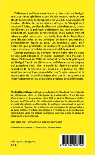 4eme Carnets politiques du Sénégal