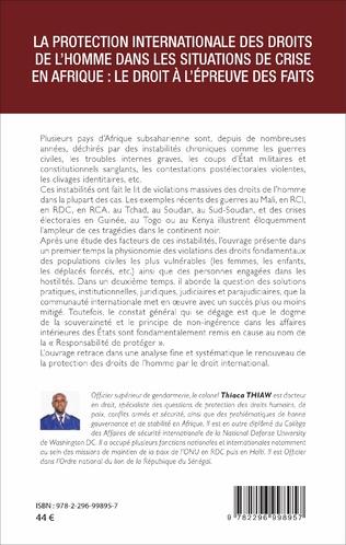 4eme La protection internationale des droits de l'homme dans les situations de crise en Afrique :