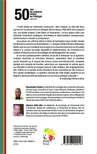 4eme 50 ans de cultures noires au Sénégal (1960-2010)