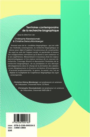 4eme Territoires contemporains de la recherche biographique