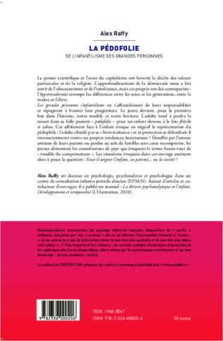 4eme PEDOFOLIE DE L'INFANTILISME DES GRANDES PERSONNES