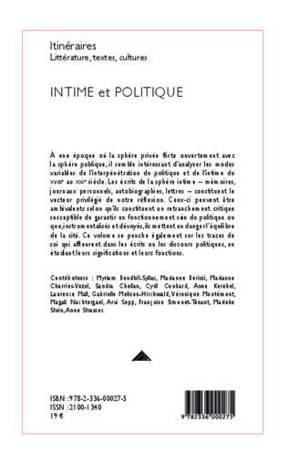 4eme Intime et politique