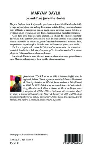 4eme Maryam Baylo Journal d'une jeune fille révoltée