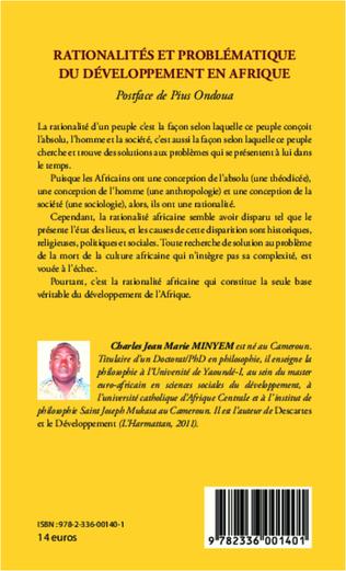 4eme Rationalités et problématique du développement en Afrique