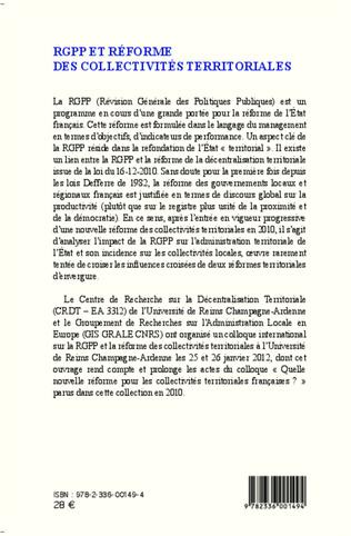 4eme RGPP et réforme des collectivités territoriales
