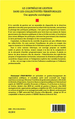 4eme Le contrôle de gestion dans les collectivités territoriales