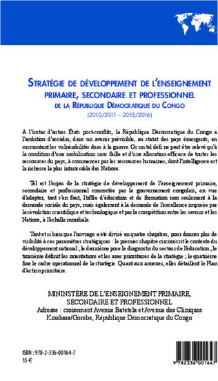 4eme Stratégie de développement de l'enseignement primaire, secondaire et professionnel