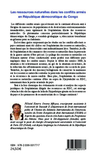 4eme Les ressources naturelles dans les conflits armés en République démocratique du Congo