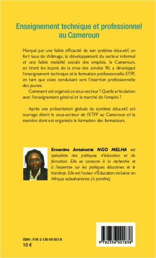4eme Enseignement technique et professionnel au Cameroun
