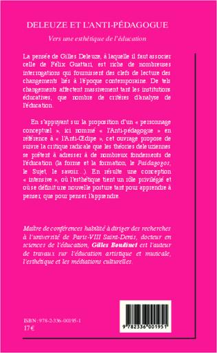 4eme Deleuze et l'anti-pédagogue